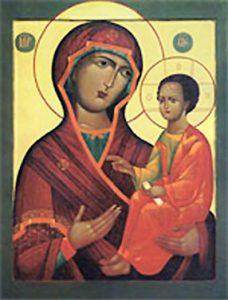 Икона Богородицы «Одигитрия» Выдропусская