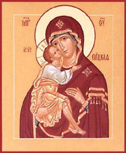Икона Богородицы Владимирская-Елецкая