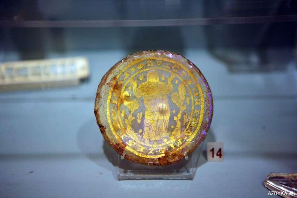 Позолота на стекле - икона