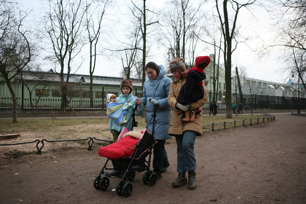 Елизавета Пархоменко с детьми