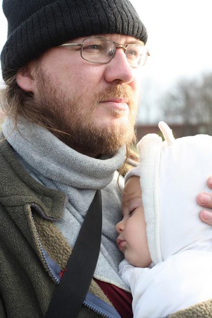 Константин Пархоменко с детьми