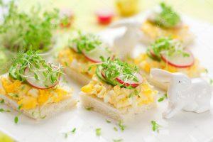 depositphotos 8905240 stock photo canape with egg cucumber radishes 300x200 1 - Чем полезен кресс-салат