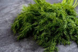 picture of green dill on grey table 300x200 - Постная рыбная кулебяка