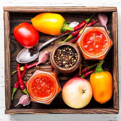 Постная аджика с овощами