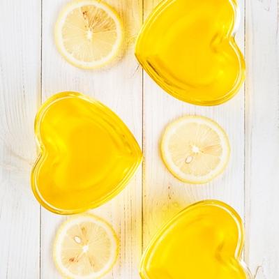 Лимонное желе на заменителе сахара