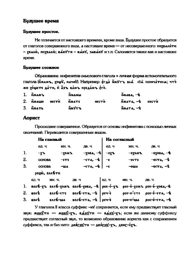 metod posobie 9 - Методическое пособие по церковнославянскому языку