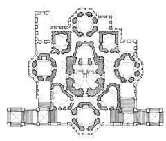 Схема храма в форме креста