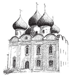 Купол в форме луковицы у Воскресенского храма, XVII в. Каргополь