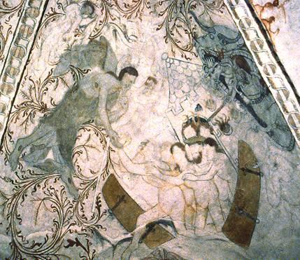 Undloese vers 1460 - Иконография Пасхи: «Descensus ad inferos» и «Ανάστασις»